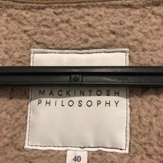 (取引中)Mackintosh philosophy 中ボアキルティングコート - 大田区