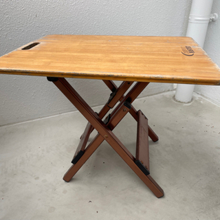 使い古したアウトドア用ローテーブル【2個セット】 - 家具