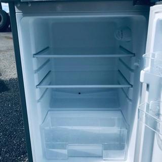 ⑤✨2017年製✨647番 ✨エスキュービズム 2ドア冷蔵庫✨WR-2118SL‼️ - 家電