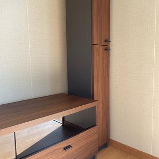 テレビ台と左右の棚セット - 浦添市