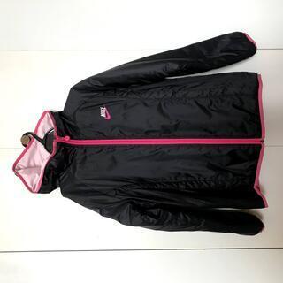 ◆NIKE◆黒×ピンク◆あったかウィンドブレーカー◆パーカー