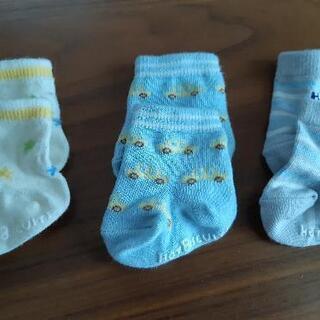 【ベビー靴下3セット】【MIKI HOUSE ホットビスケッツ】