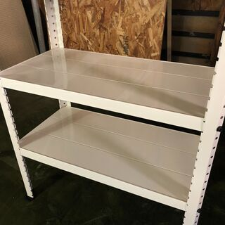 成約済み☆スチールラック 幅60 x 奥行30 x 高さ76 ホワイト 床板3枚 高さ調節可能 ホワイト - 家具