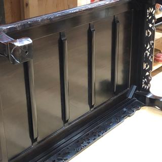 新入荷‼︎   縞黒檀 座卓 ローテーブル 団欒 高級 お買得‼︎   約 90×151×36cm   現品限り - 売ります・あげます