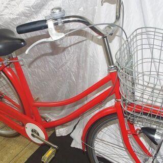 「中古」27インチオートライトファミリー/オレンジ - 自転車