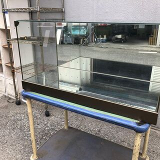 ★ 状態〇 ★ ガラスケース 40x80x38cm 壁床鏡張り ...