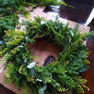 生木で作るクリスマスリース☆ - ものづくり