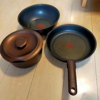 〈IH用〉ティファール鍋 5点セット、天ぷら鍋、卵焼き器