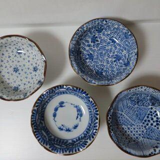 高台器 藍色の模様 ぶるー浪漫 デザート 3個セット 陶器特集 ...