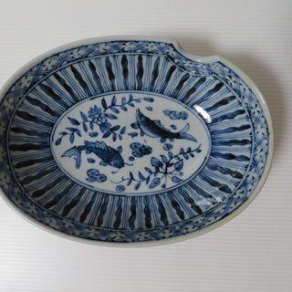 楕円 中鉢 藍色の絵付け 魚の模様 5枚セット つみき 陶器特集...