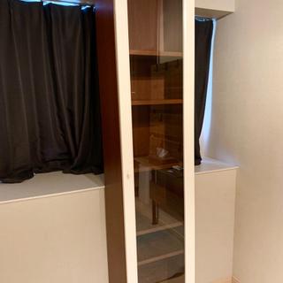 【お買い得】ガラス扉 本棚 収納 キャビネットの画像
