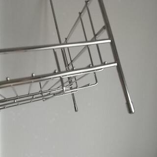 2段収納ラック ステンレス製 - 家具