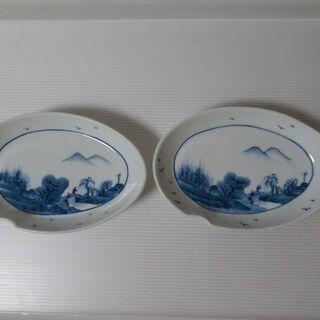 昭和レトロ 魯山 楕円のお皿 2枚セット 陶器特集 食器棚整理 ...