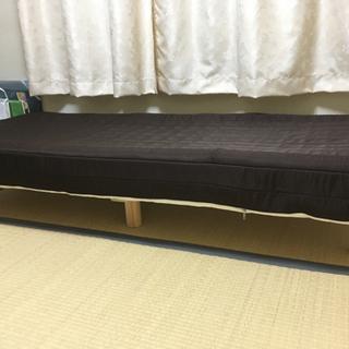 [取引完了]セミシングルサイズのベッド