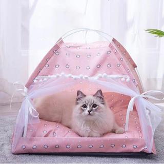 【ネット決済・配送可】犬猫ハウス(Mサイズ)