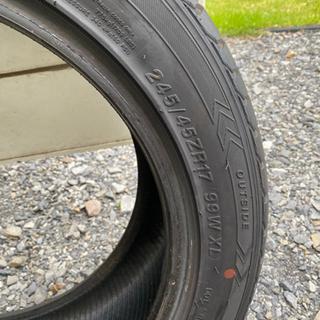 タイヤ2本の画像