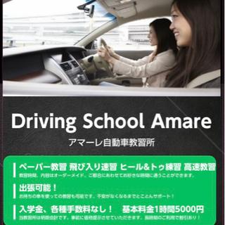 ドライビングスクールAmale ペーパー教習、車庫入れ、ヒールア...