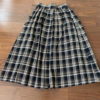 チェックの膝丈スカート 美品
