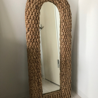 アジアン家具⭐︎籐 ラタン 姿見 ミラー 大型鏡