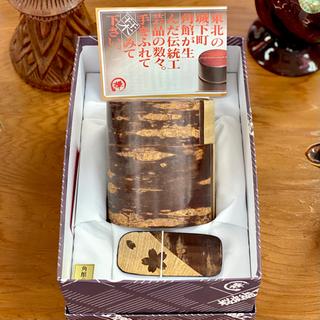 抗菌 桜川細工の茶筒