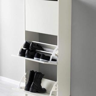 IKEA(イケア) 新品未開封 靴収納用キャビネット 3段 白
