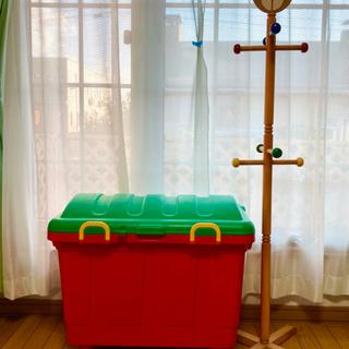おもちゃBOX &木製ポールハンガー ままごと おもちゃ サービスあり