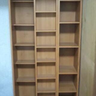 スライド棚付き本棚