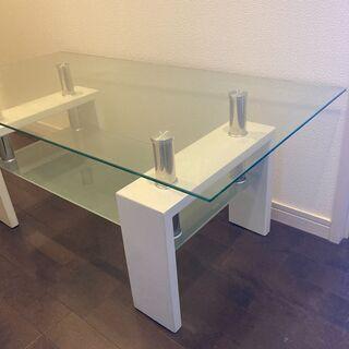 ガラステーブル 強化ガラス ローテーブル テーブル  - 八代市