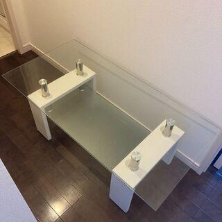 ガラステーブル 強化ガラス ローテーブル テーブル の画像