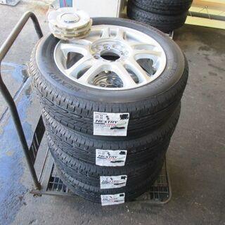 【取付けOK】新品タイヤ&中古アルミセット 155/65R…