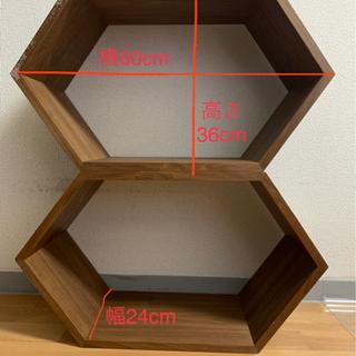【ネット決済】六角ラック2個セット インテリア/カラーボックスを...