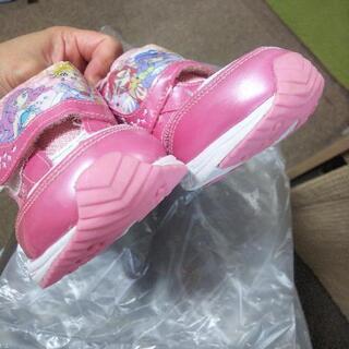 プリキュア靴 18㎝ - 子供用品