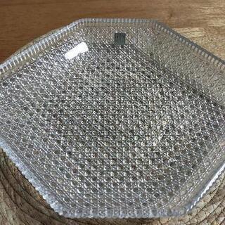ガラスプレート HOYAクリスタル 昭和レトロ