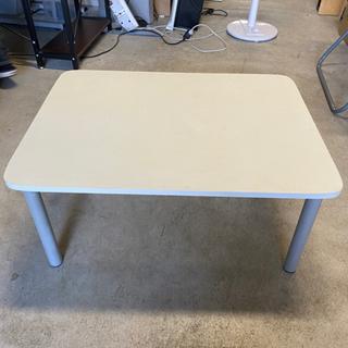 【中古品】正方形ローテーブル ホワイト
