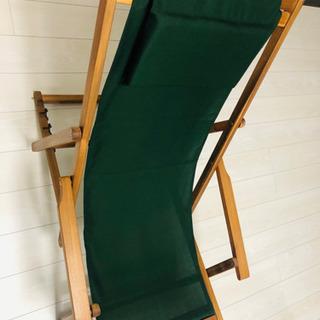 折りたたみ式デッキチェア 木製(アカシア)