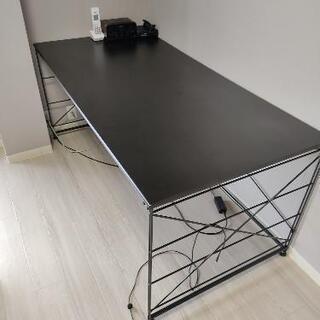 無印良品 スチールユニットデスク  メラミン天板 黒
