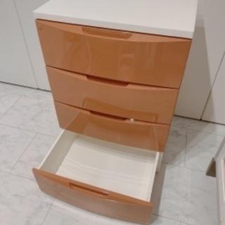 【ネット決済】美品 収納ケース ブラウン