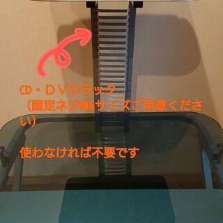 ガラス天板PCデスク(無料・差し上げます) - 家具
