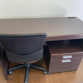勉強机 (椅子、収納棚セット)