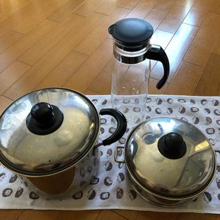 キッチンツール パスタ鍋 蒸し器 ガラスピッチャー