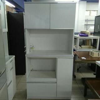 シンプルなデザイン! キッチンボード 食器棚 レンジ台 レンジボード