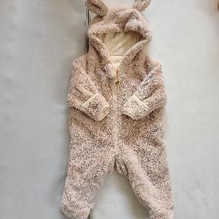赤ちゃん うさ耳 70 モコモコカバーオール