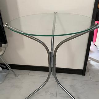 ガラステーブル 丸