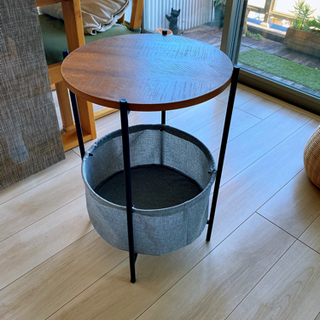 ドテーブル ローテーブル 小型 ベッドサイドテーブル 簡易テーブル
