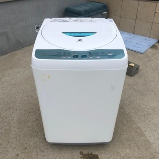 2009年製 シャープ 全自動洗濯機「ES-FG45H-A」4.5kg