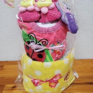 SASSYの2段オムツケーキ(女の子用)