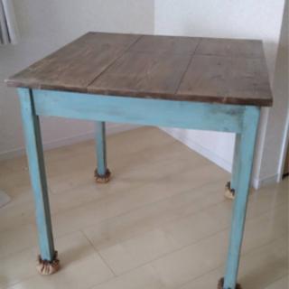 【ネット決済】手作りアンティーク風テーブル