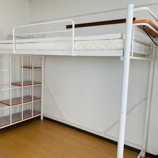シングルロフトベッド ベッドマット システムベッド 階段式…