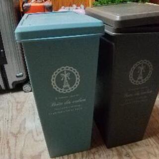プッシュアップ式ゴミ箱30L×2ケ