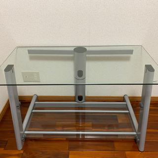 【ネット決済】ガラステーブル TV置きなどに!